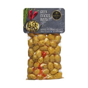 green cracked olives 250 gr